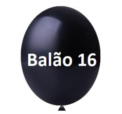 BALÃO 16 PRETO C/10 HAPPY DAY