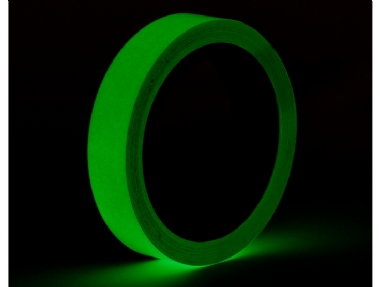 Glow Tape fosforescente 24mm 9m
