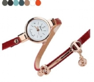 Luxury Retro Design Leather Band Analog Alloy Quartz Wrist Watch