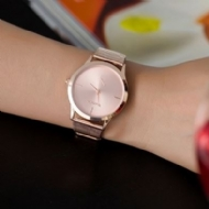 HEXIN 2017 New Fashion Female Clocks Women Luxury Quartz Watch rose gold Stainless Steel dress Watches montre femme