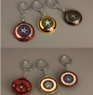 2017 (Avengers Alliance) Captain America Spins Metal Key Chain Zinc alloy key chain accessories