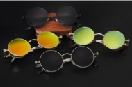 Gothic Steampunk Mens Sunglasses Coating Mirrored Sunglasses