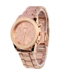 New Geneva Ladies Stainless Steel Quartz Wrist Watch