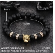 Classics DIY Design Personalized Fashion Lovely Lion Metal Bracelet Bronze Elastic Natural / Women Casual Summer Bracelet Natural Matte Black Volcanic / Natural Agate Fashion Bracelet Gold Lapis Lazul