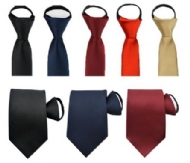Men Classic Jacquard Woven Solid Color 8cm Wide Ties Pre-tied Necktie Zipper Tie
