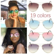 Fashion Outdoor UV400 Protection Unisex Sunglasses Aviator Metal Eyewear Glasses Women Men Bat Mirror Pilot Cool Polarized Sunglasses Shopping Summer Holiday Beach Driving Eyewear Accessories 19 Color