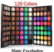 120 Color Cosmetic Powder Eyeshadow Palette Makeup Set Eye Shadow Brush