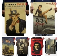 World Wars Posters/Nostalgia Photo/Kraft Paper/Bar Poster/Retro Poster/Decorative Painting