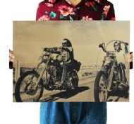 Movie Easy Rider Retro Paper Poster Harley Motorcycle Wallpaper Poster 51*35cm/20 *13.8
