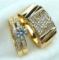 Men Women Wedding Men Size 9 To 14, Women Size 6 To 10 Ring Set Jewelry