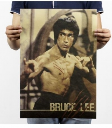 Bruce Lee collection of nostalgia, Brown posters, the core interior bar, cafe, decorative painting core (Buy 2 get 1 Extra)