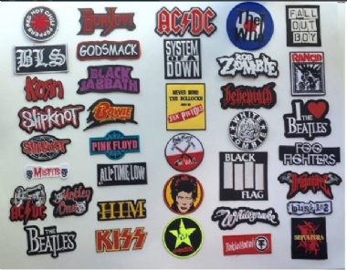 DIY Metal Rock Punk Retro Indy Music Band Embroidered Sew Iron On Patch Badge