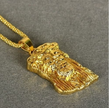 18k Iced Out Gold Plated Gold Gunmetal MICRO JESUS PIECE