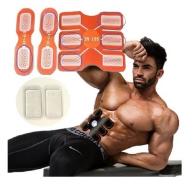 ABS Six pad Abdominal Exerciser Muscle Training Fitness Gear Fitpad Gel Pad TP (Size: 6pcs)