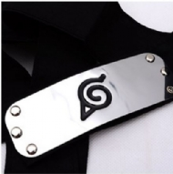 Naruto Headband Leaf Village Logo Konoha Kakashi Akatsuki Members Headband Cosplay Costume Accessories(Size: 1)
