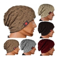 Winter Skull Knitted Women Men Two sides Baggy Hip hop Warm Beanies Knitted hat Couple hat