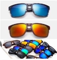 Fashion Unisex Imitated Wood Pattern Sunglasses Outdoor Sports Riding Sunglasses UV Protection Eyewear