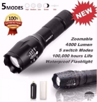 Lanterna foco feixe de luz LED superbrilhante à prova dâágua 2W Lover-Beauty com alça de mão / Wfuture Tactical LED Flashlight G700 SkyWolfeye X800 Zoom Super Bright Military Grade