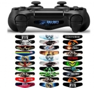10pcs/ set Light Bar Decal Stickers Set of 30 Different Pcs for PS4 Playstation 4 Controller - Color Prints Game Theme Mix Stickers New 2018