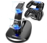 Dual USB Charging Charger Docking Station Stand for Playstation 4 PS4 Controller /  Dual LED USB Charger Charging Dock Stand Station for Sony PS4 Playstation 4 Games Controller Console Gaming Joystick