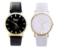 New Fashion Geneva Women Lady Leather Band Quartz Analog Wrist Watch High Quality