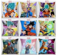 Anime Pillow Cover Dragon Ball Z Goku Super Saiyan Pillowcase Polyester Throw Pillow Cases Car Sofa Cushion Cover