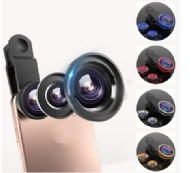 Universal Mobile Phone Camera Lens Kit Fish Eye Lens + 2 in1