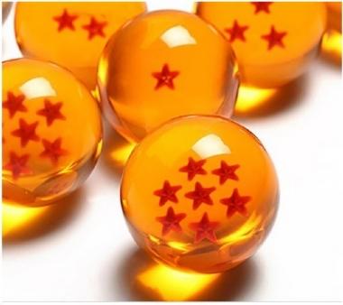 1PC Dragonball Crystal Ball 3.5cm Japan Anime 7 Star Style Ball DBZ Dragon Ball Clear Ball with Original Gift Box (Color: Orange)