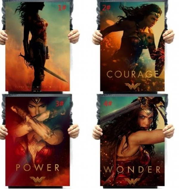 51x35.5cm Justice League Wonder Woman DC Superhero Comic Movie Poster/Kraft Poster/Wall sticker