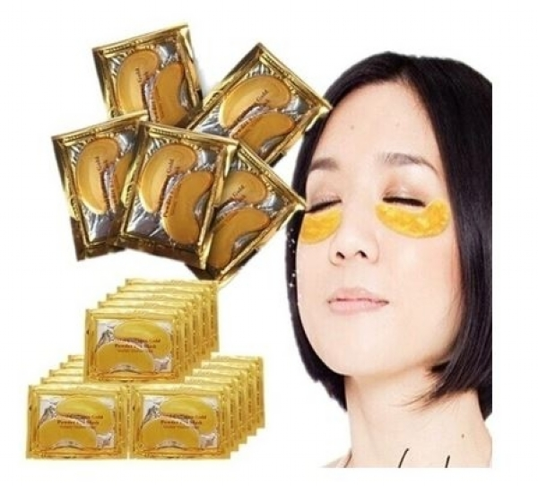 10pcs=5 Pack Eye Mask Golden Crystal Collagen Eye Mask Anti-Dark Circle Moisturizing Anti-Aging Hyaluronic Acid Eye Mask