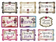 KIT PLAQUINHAS EVER AFTER HIGH C/ 9UND