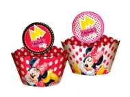 WRAPPER CUPCAKE ENF RED MINNIE C/12UND