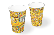 COPO PAPEL EMOJI 300ML 8UN