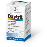 Baytril Injetável 5% - 10ml Antimicrobiano Para Cães e Gatos
