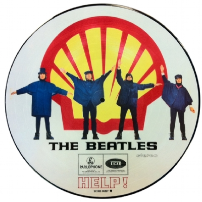 DISCO DE VINIL NOVO - THE BEATLES - HELP! SHELL VERSION LP PICTURE DISC