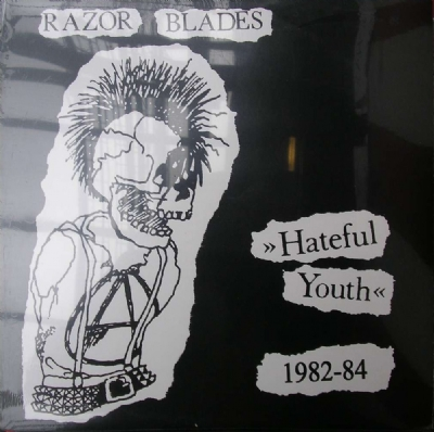 DISCO DE VINIL NOVO - RAZOR BLADES - HATEFUL YOUTH 1982 - 1984 LP