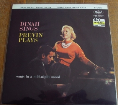 DISCO DE VINIL USADO - DINAH SHORE AND ANDRE PREVIN - DINAH SINGS PREVIN PLAYS LP