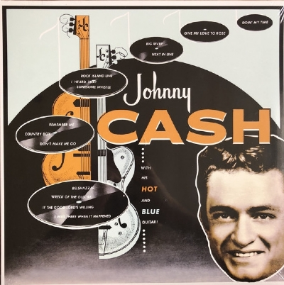 DISCO DE VINIL NOVO - JOHNNY CASH - WITH HIS HOT AND BLUE GUITAR LP 180 G