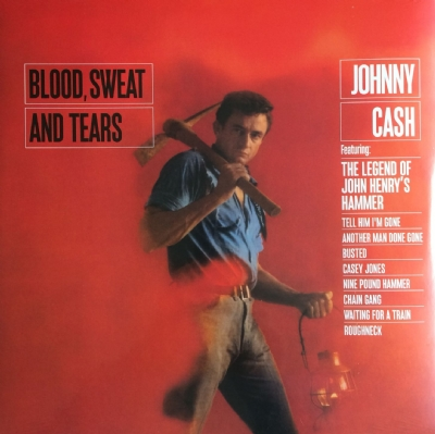 DISCO DE VINIL NOVO - JOHNNY CASH - BLOOD, SWEAT AND TEARS LP 180 G