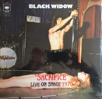 DISCO DE VINIL NOVO - BLACK WIDOW - SACRIFICE - LIVE ON STAGE 1970 LP 180 G