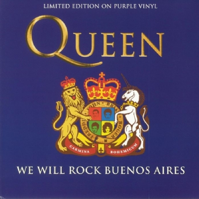 DISCO DE VINIL NOVO - QUEEN - WE WILL ROCK BUENOS AIRES LP COLORIDO