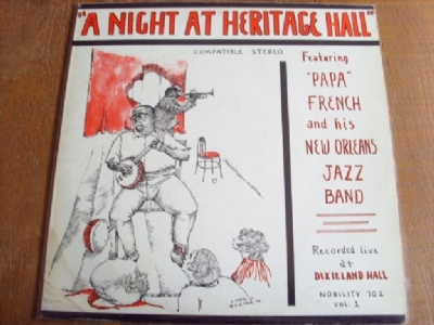 DISCO DE VINIL USADO - PAPA FRENCH AND HIS NEW ORLEANS JAZZ BAND - A NIGHT AT HERITAGE HALL LP