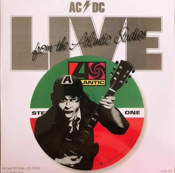 DISCO DE VINIL NOVO - AC/DC - LIVE FROM THE ATLANTIC STUDIOS - LP 180 G