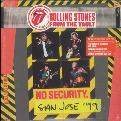 DISCO DE VINIL NOVO - THE ROLLING STONES - NO SECURITY SAN JOSE ´99 LP TRIPLO 180 G COLORIDO