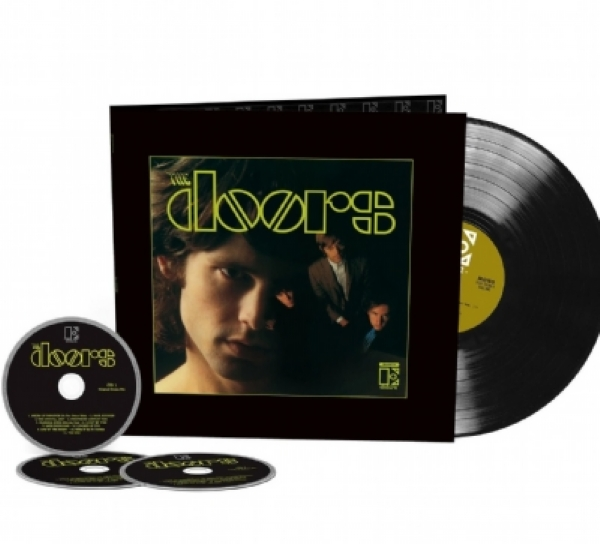 DISCO DE VINIL NOVO - THE DOORS - THE DOORS 50TH ANNIVERSARY 01 LP 03 CD BOX SET