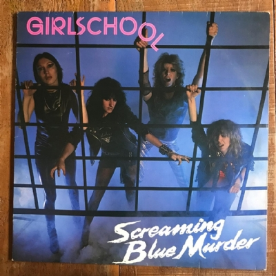 DISCO DE VINIL USADO - GIRLSCHOOL - SCREAMING BLUE MURDER LP