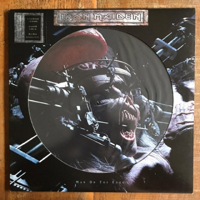 Disco de vinil usado - Iron Maiden - Man On The Edge LP Picture Disc