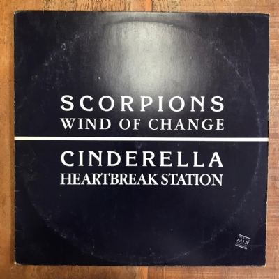 Single de vinil usado - Scorpions / Cinderella - Wind Of Change / Heartbreak Station Lp 12