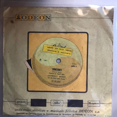 Single De Vinil Usado - Anthony Quinn - I Love You, You Love Me / Sometimes