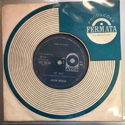 Single De Vinil Usado - Brook Benton - My Way / I´Ve Gotta Be Me